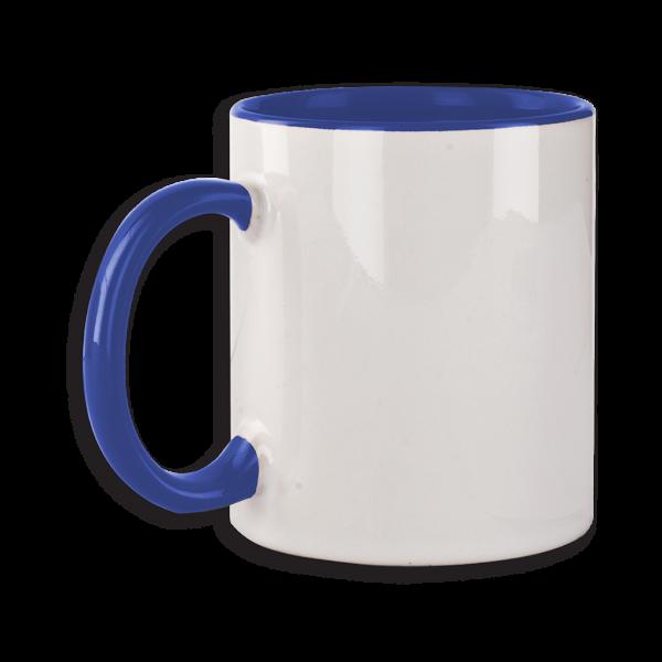 Tasse mit blauem Henkel ab 72 Stk.