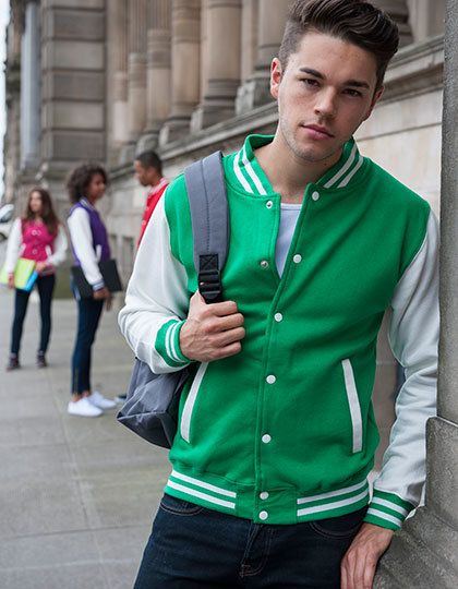 Just Hoods Herren Varsity Jacket