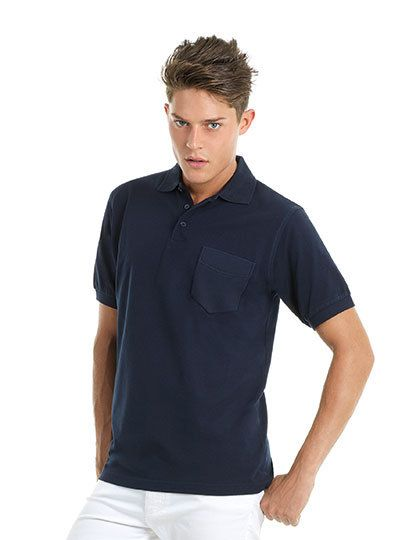 Mediatrix B&C Unisex Safran Pocket Polo