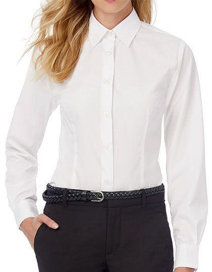 Mediatrix B&C Damen Hemd Langarm