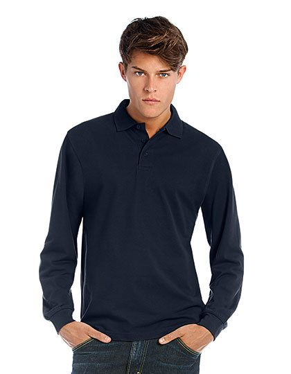 Mediatrix B&C Unisex Langarm Polo