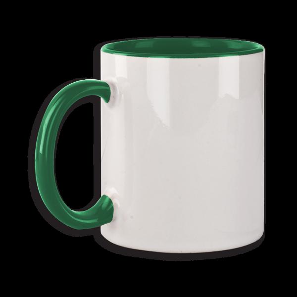 Tasse mit grünem Henkel ab 72 Stk.