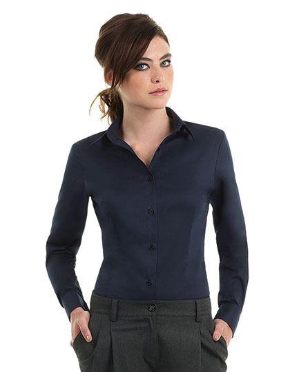 Mediatrix B&C Damen Langarm Twill Shirt