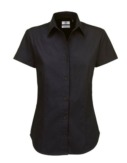 Mediatrix B&C Damen Kurzarm Twill Shirt