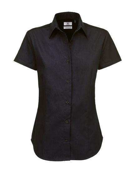 Mediatrix B&C Damen Kurzarm Twill Shirt