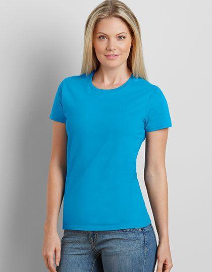 Mediatrix Gildan Damen Premium Baumwoll T-Shirt