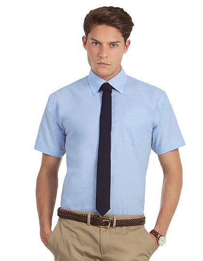 Mediatrix Kurzarm Herren Oxford Shirt