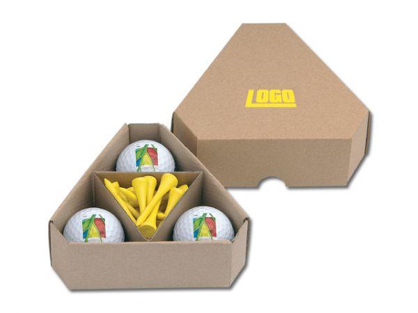 Mediatrix Papierbox für Golfbälle TRIANGLE